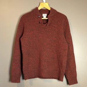 L.L. Bean 100% lambs wool v neck sweater
